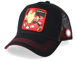 Marvel Iron Man Black/Red Trucker - Capslab