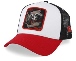 Guardians of the Galaxy Rocket Raccoon White/Black/Red Trucker - Capslab