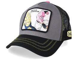 Dragon Ball Minute Of Desperation Vegeta VS Kid Buu Charcoal/Black/Pink Trucker - Capslab