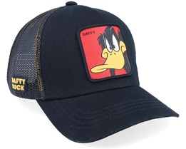 Looney Tunes Daffy Duck Black/Black Trucker - Capslab