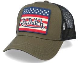 US Flag Military/Black Trucker - Von Dutch