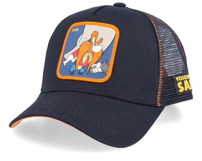 Looney Tunes Yosemite Sam Black/Black/Orange Trucker - Capslab