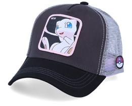 Pokemon Mew Charcoal/Black/Grey Trucker - Capslab
