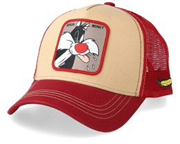 Looney Tunes Sylvester the Cat Beige/Red/Red Trucker - Capslab