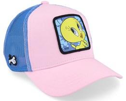 Looney Tunes Tweety Pink/Pink/Blue Trucker - Capslab