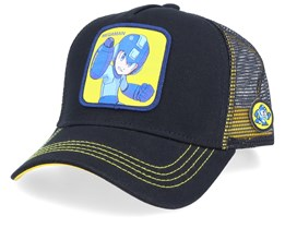 Megaman Black/Black/Yellow Trucker - Capslab