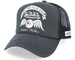 Motorcycle Club Crew Vintage Black/Black Trucker - Von Dutch