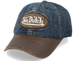 Jean1 Denim/Brown Dad Cap - Von Dutch