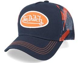 Abob Aop Navy/Orange Trucker - Von Dutch