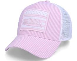 Pink/White Flag Trucker - Von Dutch
