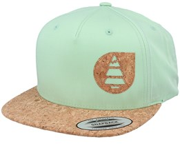 Narrow Gum Green/Cork Snapback - Picture