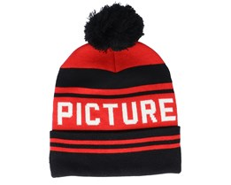 Casu Beanie B Black Red/Black Pom - Picture