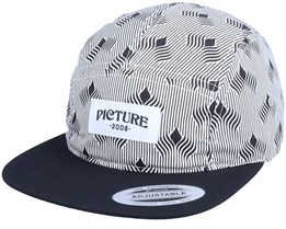 Faro 5P Cap Castel White/Black 5-Panel - Picture
