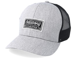 Kids Walled Heather Grey/Black Trucker - Billabong