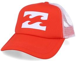 Logo Samba Orange/White Trucker - Billabong