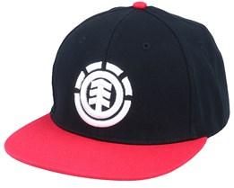 Knutsen Cap Original Black/Red Snapback - Element