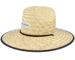 Tipton Natural/Black/Mint Straw Hat - Billabong