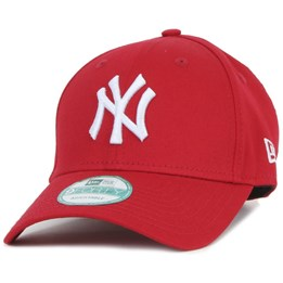 New York Yankees League Essential Trucker Red Adjustable - New Era ... 3cb99a061db3