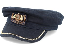 Fisherman Cotton Navy Flat Cap - Stetson