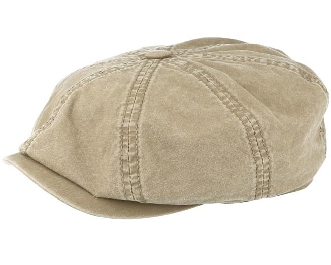 1b64d1d6 Hatteras Delave Organic Cotton Olive Flat Cap - Stetson caps ...