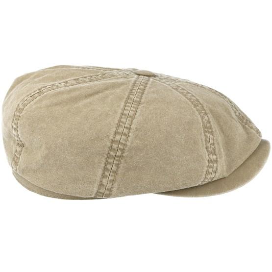 7ce02341 Hatteras Delave Organic Cotton Olive Flat Cap - Stetson caps |  Hatstore.co.uk