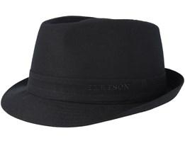 Cotton Black Trilby - Stetson