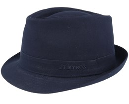 Cotton Navy/Gun Metal Trilby - Stetson