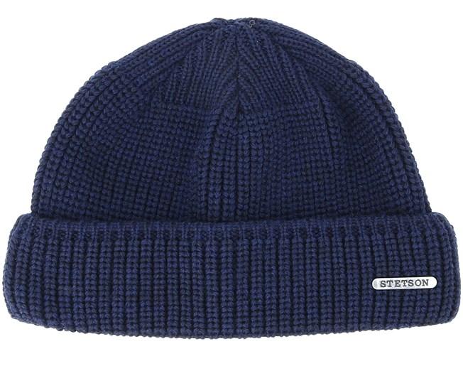 Merino Wool Navy Beanie - Stetson beanies  4a47d8ef6d77