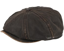 Hatteras Co/Pes Dark Brown Flat Cap - Stetson