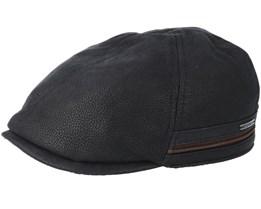 Duck Cap Cowhide Black Flat Cap - Stetson