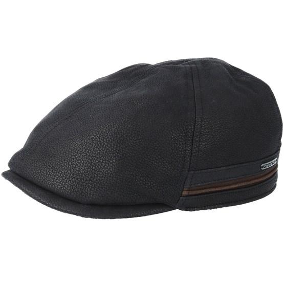 Keps Duck Cap Cowhide Black Flat Cap - Stetson - Svart Flat Caps
