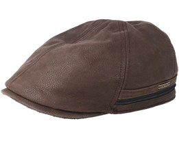 Duck Cap Cowhide Dark Brown Flat Cap - Stetson