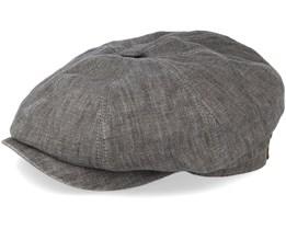 Hatteras Linen Grey Flat Cap - Stetson