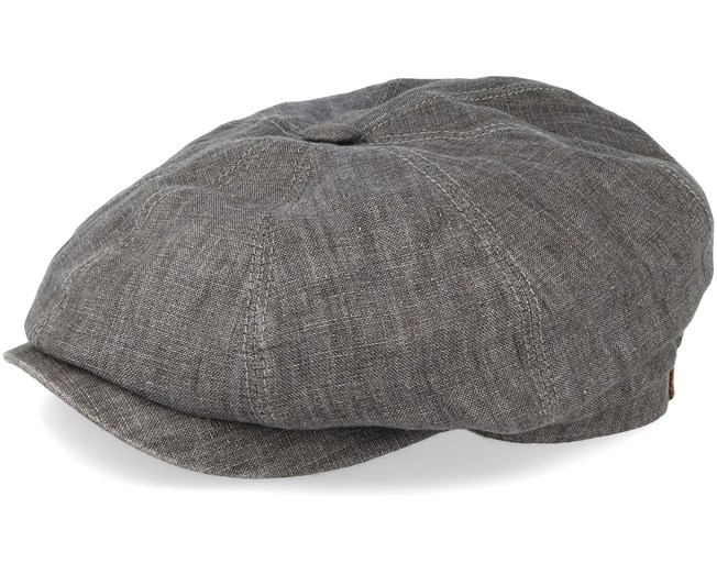72cd92545 Hatteras Linen Grey Flat Cap - Stetson caps | Hatstore.co.uk