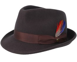 Woolfelt 2 Dark Brown Trilby - Stetson