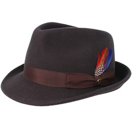 7f249915cdd11c Pig Skin Brown Pork Pie - Stetson hats - Hatstore.ae