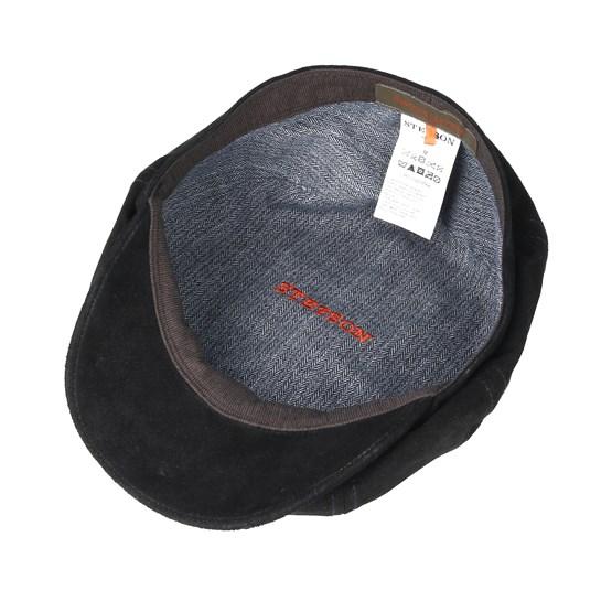 df6ba29049e Hatteras Pigskin Black Flat Cap - Stetson caps