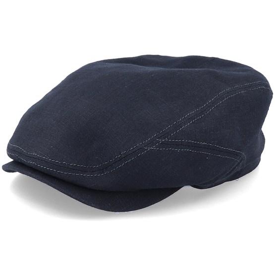 Keps Driver Cap Linen 1 Black Flat Cap - Stetson - Svart