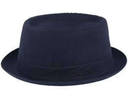 Cotton Navy/Gun Metal Pork Pie - Stetson