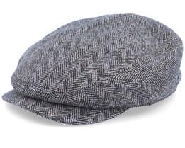 Driver Cap Wool Herringbone Fishgrat Brown Flat Cap - Stetson