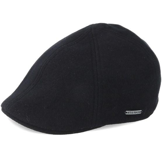 Keps Texas Wool/Cashmere Black Flat Cap - Stetson - Svart Flat Caps