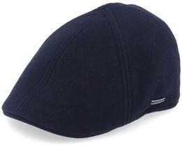 Texas Duck Shape Texas Wool/Cashmere Black Flat Cap - Stetson