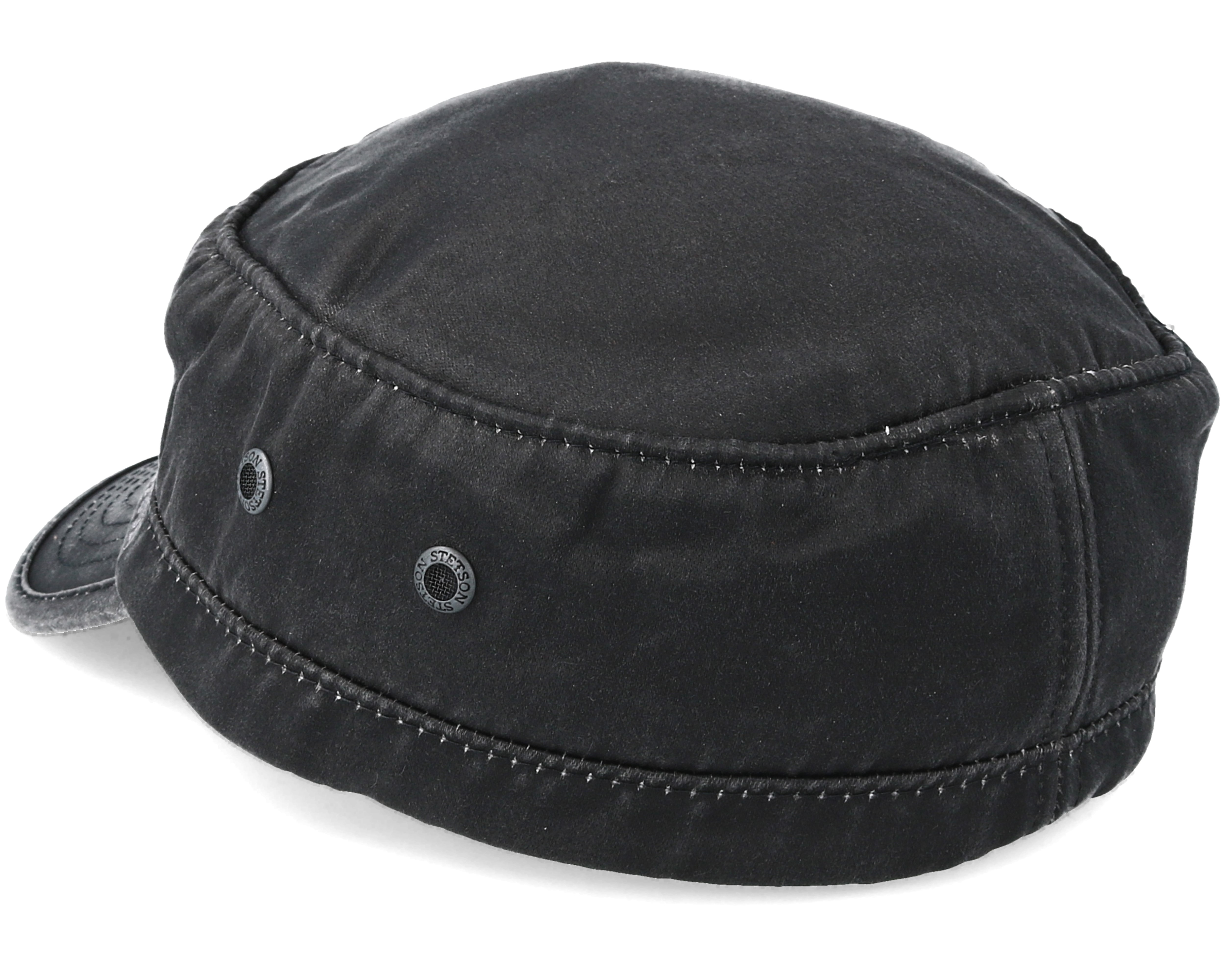 6929ae51 Army Cap Co/Pes Black Fitted - Stetson cap - Hatstore.co.in