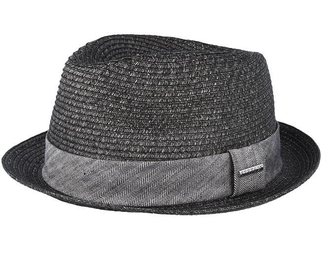 6dff8c16 Trilby Toyo Black Straw - Stetson hat - Hatstore.co.in