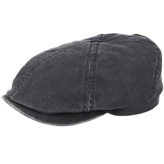 Keps 6-Panel Co/Pes Dark Grey Flat Cap - Stetson - Grå Flat Caps