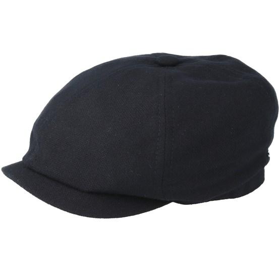 Keps 6-Panel Virgin Wool/Cashmere Black Flat Cap - Stetson - Svart Flat Caps