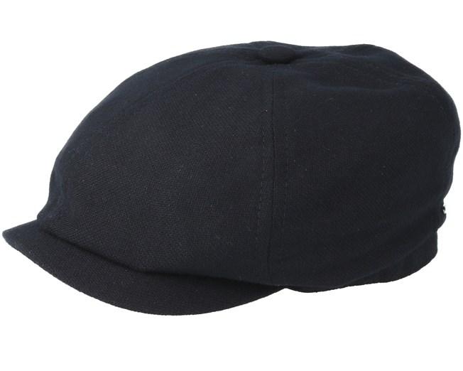 42f673eeb 6-Panel Virgin Wool/Cashmere Black Flat Cap - Stetson caps ...