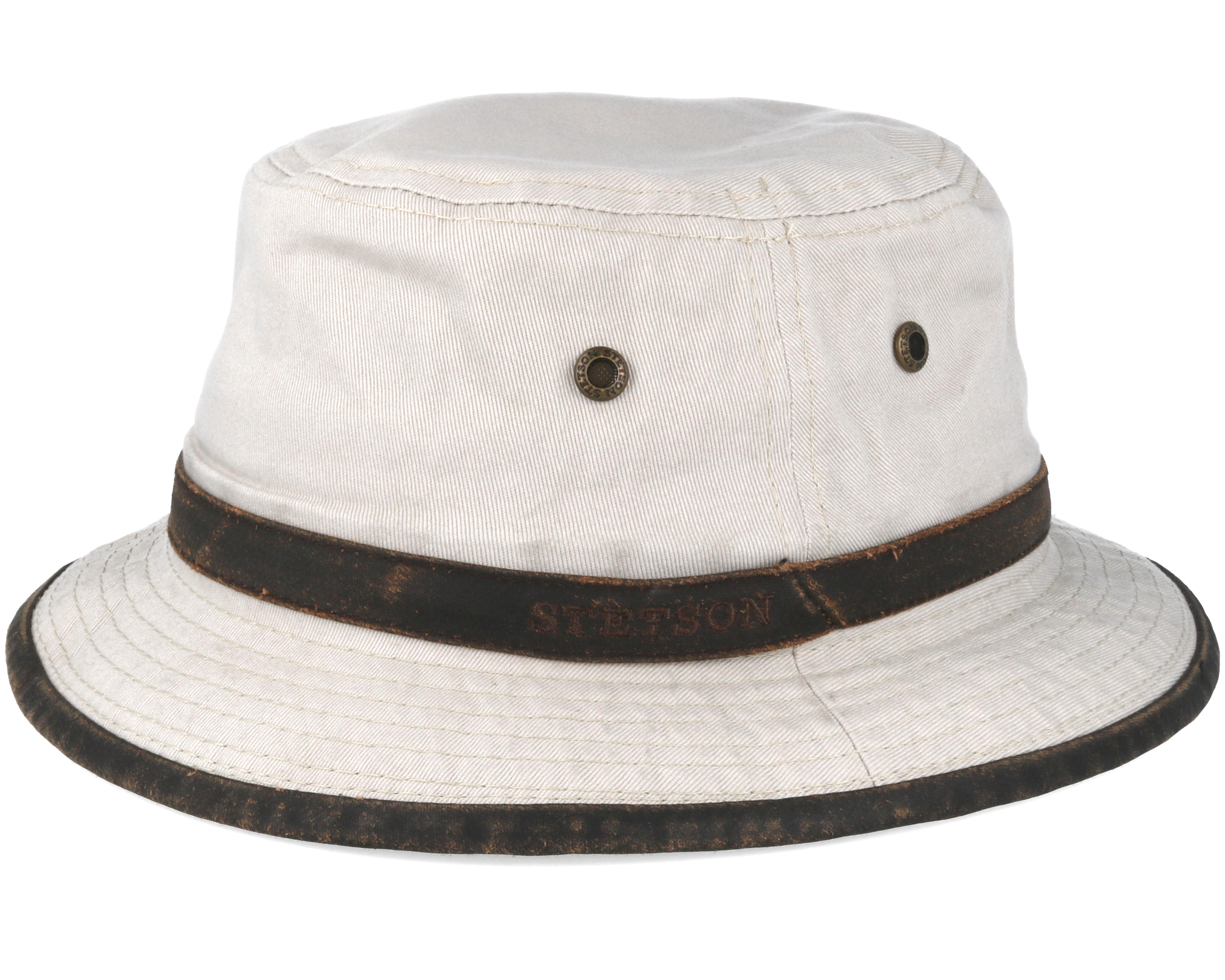 Cotton Beige Bucket Stetson Hats Hatstoreworld Com