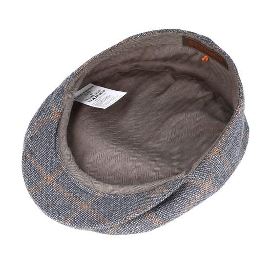 551e73d8 Ivy Linen Checkered Grey Flat Cap - Stetson caps - Hatstoreaustralia.com