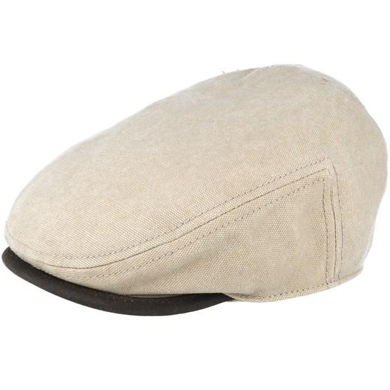 Keps Driver Cap Canvas Beige Flat Cap - Stetson - Beige Flat Caps
